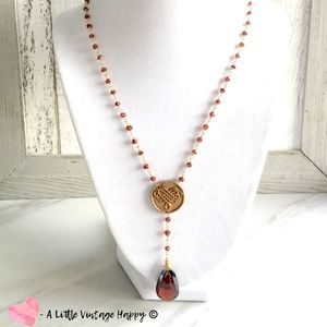 All You Need is Love// Garnet Necklace// Handmade